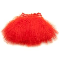 Marabou Blood Quill - Fl. Fire Orange