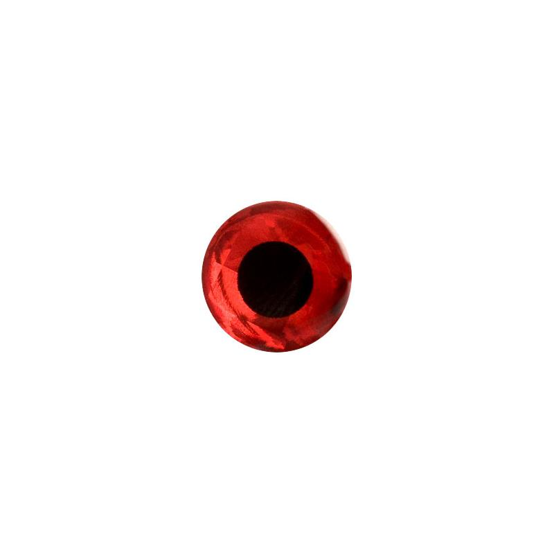 Bilde av 3d Epoxy Eyes - Holo Red 5mm 20stk Wapsi
