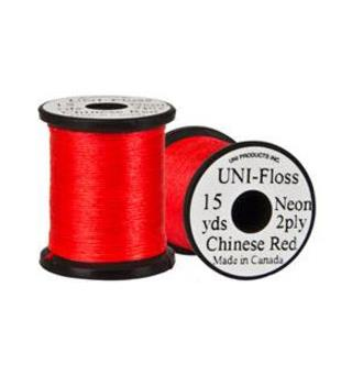 Uni Neon Fluo Floss - Chinese Red