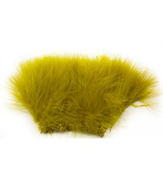 Marabou Blood Quill - Golden Olive (Yellow Olive)