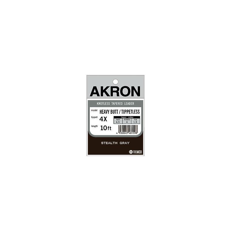 Bilde av Akron Heavy Butt Tippetless - 10' / 3x Tippdiameter 0,200mm.