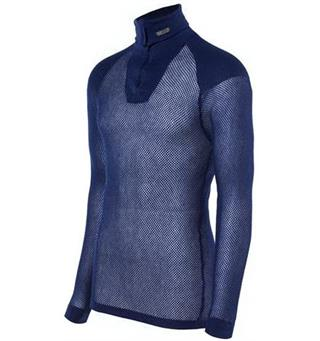 Brynje Super Thermo Zip Polo Navy Super Thermo med innlegg