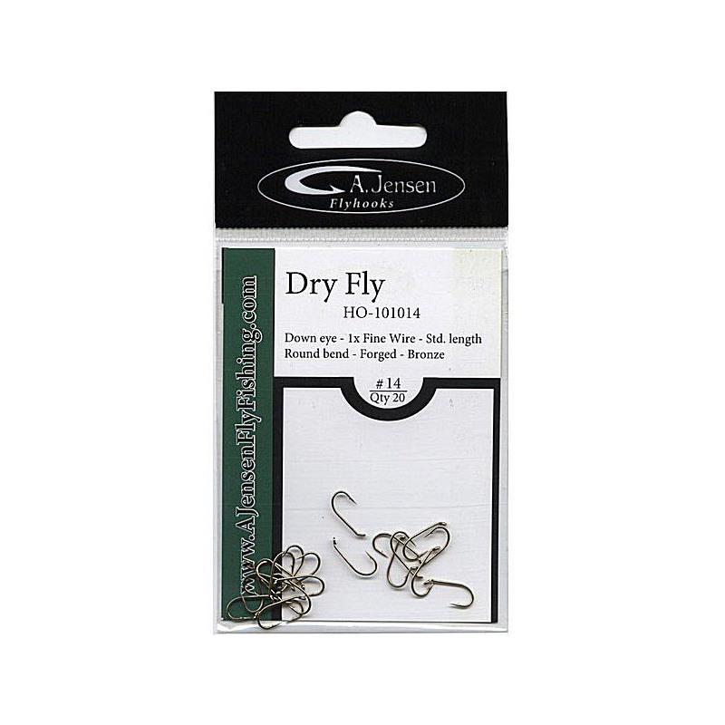 Bilde av A.jensen Dry Fly #20 20stk - Tørrfluekrok