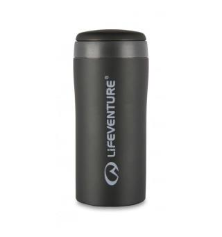 Lifeventure Thermal Mug - Matt Black Holder på varmen i opptil 4 timer!