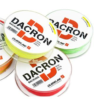 Guideline Dacron Backing 0,70mm 50lbs 300m Braided backing, Hi-Viz Red