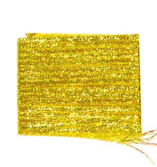 Lagartun Flatbraid - Saffron Yellow 5mm bred