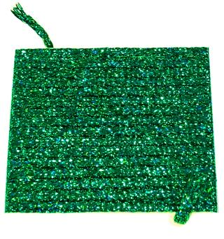 Lagartun Flatbraid - Green Holo 5mm bred