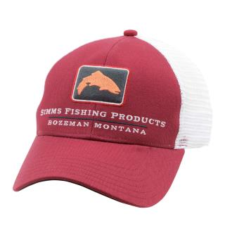 Simms Trout Icon Trucker Caps Rusty Red
