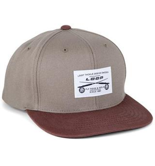 Loop Retro Flat Cap - Brown/Burgundy