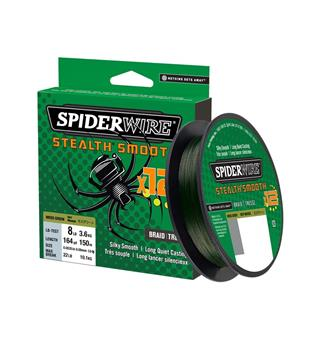 Spiderwire Stealth Smooth 12 Myk og langtkastende superline!