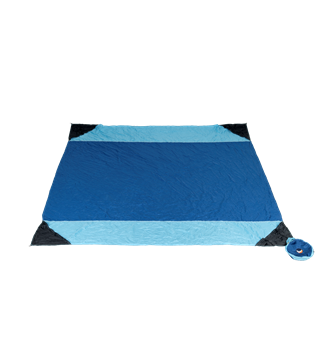 Ticket To The Moon Beach Blanket Royal Blue/Light Blue