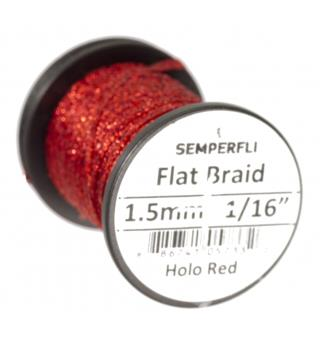 Semperfli Flat Braid 1,5mm Holographic Red