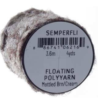 Semperfli Dry Fly Polyyarn Mottled Brown & Cream