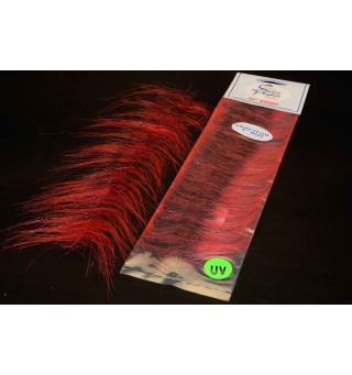 EP Craft Fur Brush Red/black Enrico Puglisi
