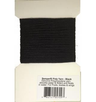 Semperfli Poly-Yarn Black