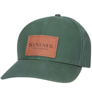Simms Leather Patch Caps Foliage