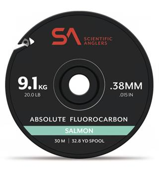 SA Absolute Salmon Fluorcarbon Tippet 30m