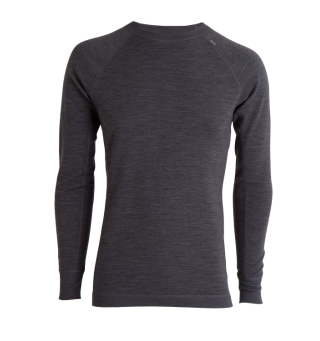 Tufte Bambull Crew Neck L Dark Grey Melange/Forged Iron - herre