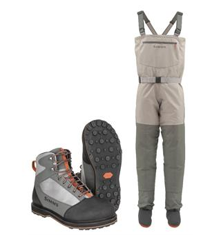 Simms Womens Tributary Stockingfoot Vader & sko med gummisåle, Striker Grey