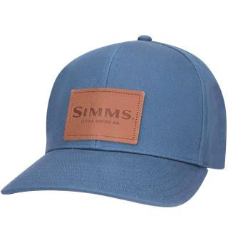 Simms Leather Patch Caps Dark Moon