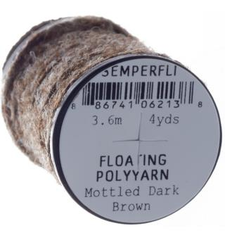 Semperfli Dry Fly Polyyarn Mottled Dark Brown