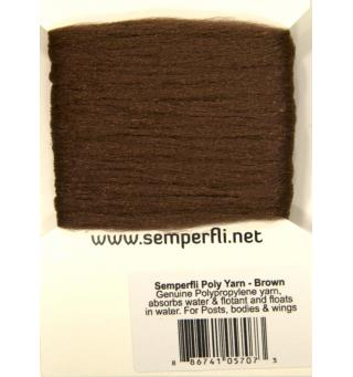 Semperfli Poly-Yarn Brown