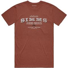 Simms Working Class T-Shirt, S Red Clay Heather