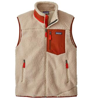Patagonia Classic Retro-X Vest XXL Fleecevest, herre, Natural w/ Barn Red