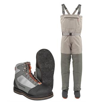 Simms Womens Tributary Stockingfoot Vader & sko med filtsåle, Striker Grey