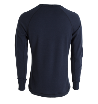 Tufte Bambull Crew Neck L Blueberry/Mood Indigo - herre