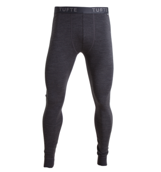 Tufte Bambull Long Johns Longs L DarkGrey Melange/Forged Iron - herre