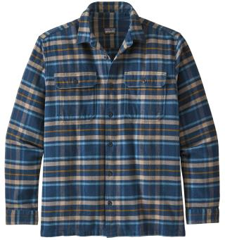 Patagonia Fjord Flannel Shirt XS Langermet, herre, Independence: New Navy