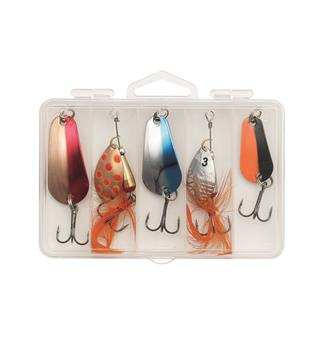 Kinetic Highland Trout Mix Sluk og spinnersett 5-pack