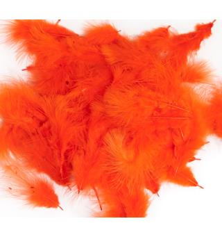 Mini-Marabou - Fluo Fire Orange Wapsi